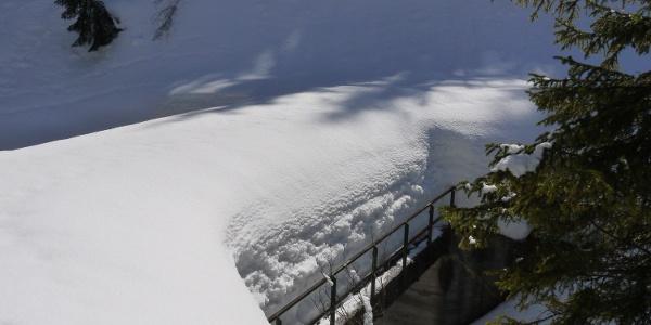 Schneemassen am Filzmoosbach
