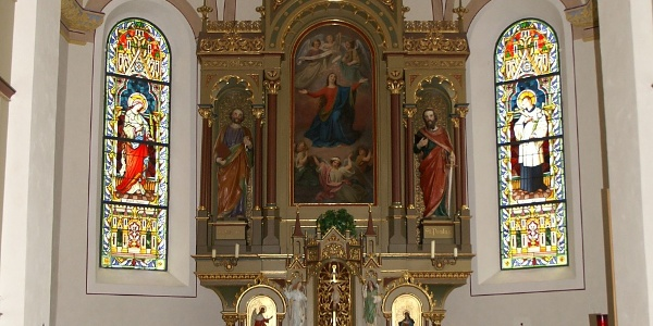 Schröcken, Katholische Pfarrkirche Unsere Liebe Frau Mariä Himmelfahrt 3