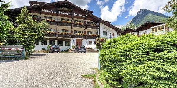 Hotel Schwarzbachhof front view in summer