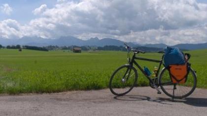 Blick auf die Alpen bei Seeg