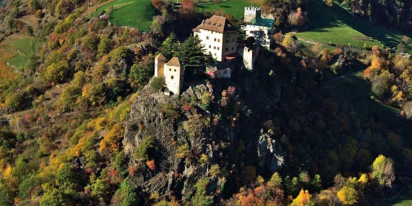 Juval Castle on an amazing cliff above Naturno at ca. 1000 m.