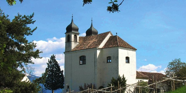 The Gleif church high above Appiano
