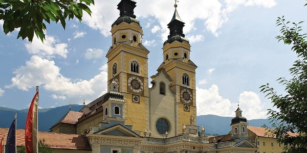 Two towers, a landmark - the Cathedral in Brixen-Bressanone.