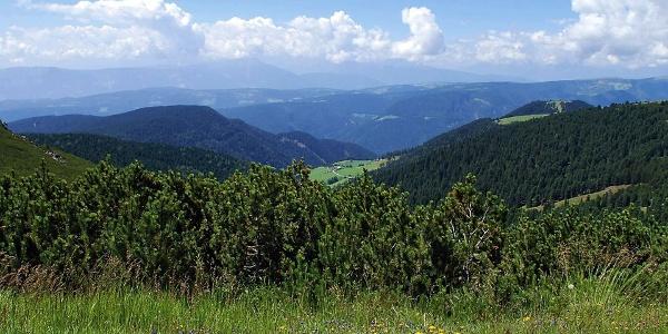 Panoramablick vom Weg zum Rittner Horn aus.