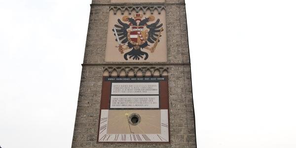 Der Ennser Stadtturm am Donausteig