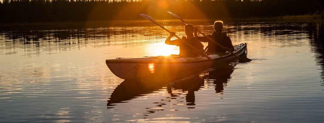 Lake Pielinen is a great kayaking destination, either independently or with a guide