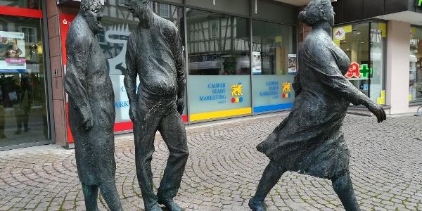 Passanten-Drei Figuren