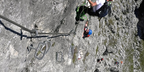 Auf dem Grandlspitz Klettersteig