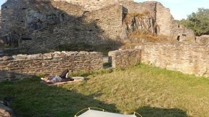 Schlafen auf historischem Boden
