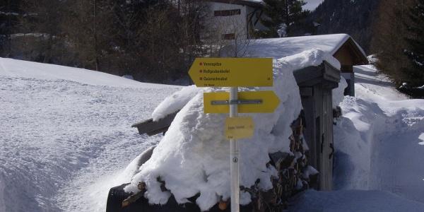 Vom Parkplatz geht es Richtung Vennspitze