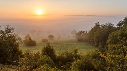 Sonnenaufgang im Bliesgau