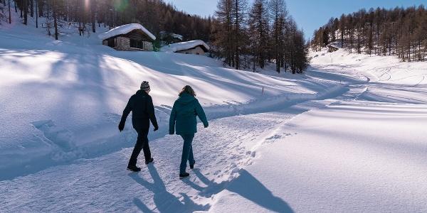 Winterwander im Val Fex, Richtung Muotta da Güvè