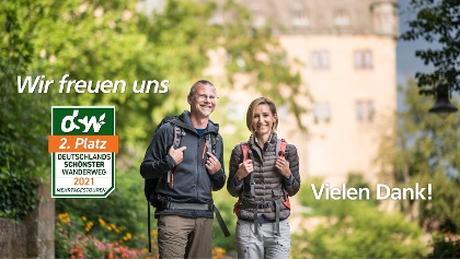 """Der Lahnwanderweg erfolgreich bei """"Deutschlands schönster Wanderweg"""" 2021"""