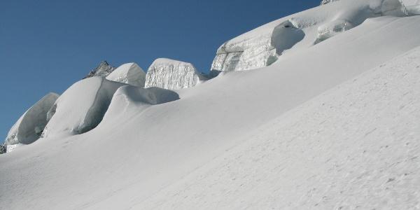 Beeindruckende Gletscherlandschaft am Schlegeiskees.