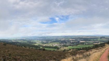 Melrose from Eildon hills