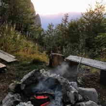 Outdoor fire at Meduprenje