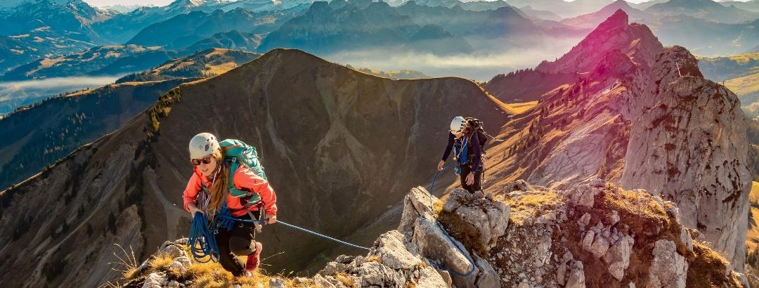 Alpinklettern in den Alpen