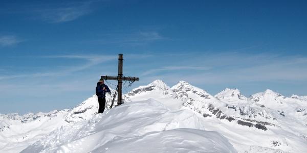 Am Gipfelkreuz der Grabspitze.