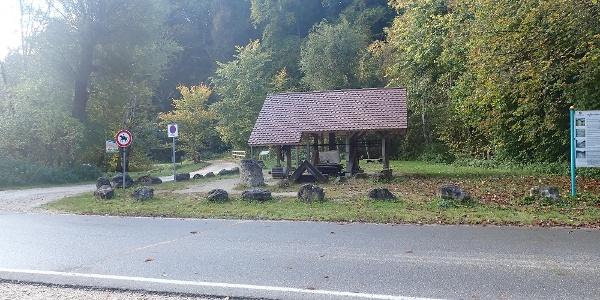 Am Parkplatz Laufenmühle