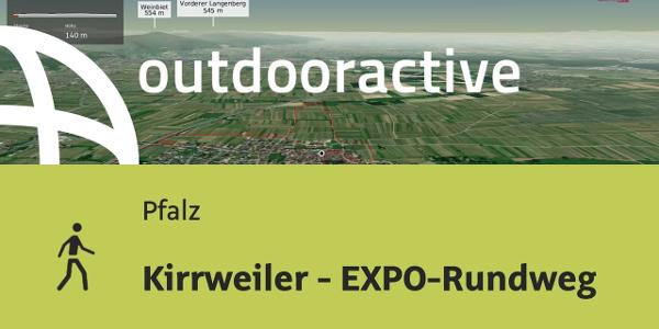 Wanderung in der Pfalz: Kirrweiler - EXPO-Rundweg