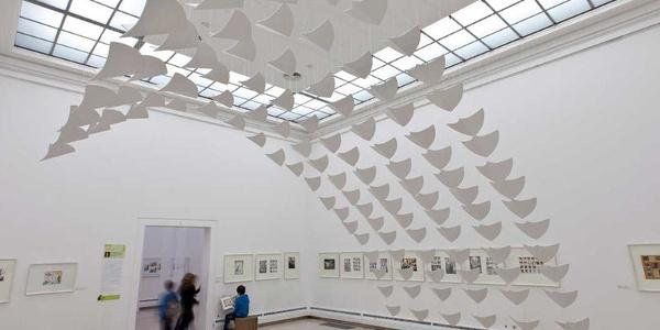 Austellungsraum der Städtischen Galerie Rosenheim.
