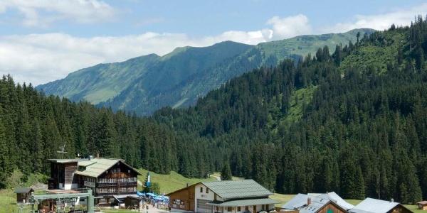 Ausgangspunkt für die Tour auf den Hohen Ifen ist die Auenhütte.