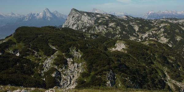 Ausblick von der Hochfläche des Untersbergs