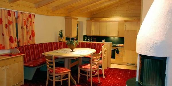Essbereich mit Küche - Panoramawohnung