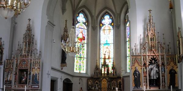 Kuratienkirche Heiliger Wolfgang Altarraum