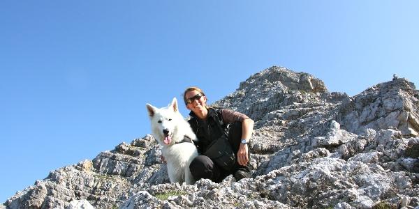 leichte Kletterei beim Aufstieg zur Sonntagskarspitze