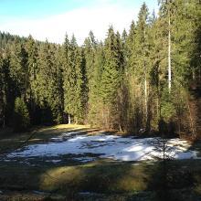 Schnee am 14. April