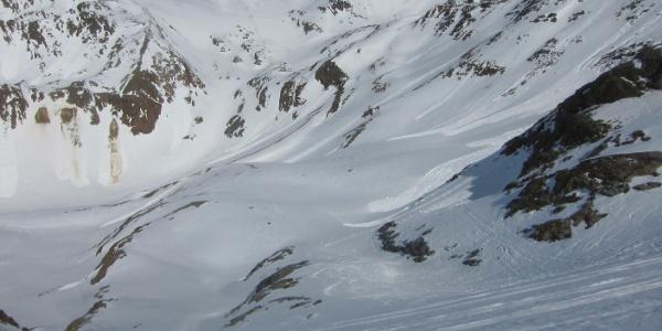 Blick Richtung Gaißkarferner und Eisjoch