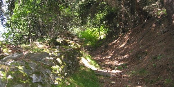 Etappe 7: historischer Transitweg oberhalb von Zillis