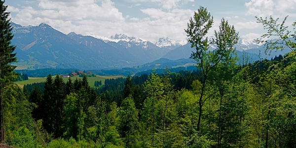 Looking south onto the Oberstdorf Alps