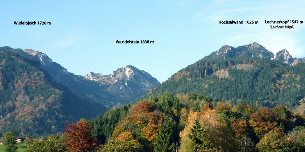 Der Wendelstein von Osten (Brannenburg) aus gesehen