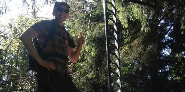 Am Gipfel des Sternstein