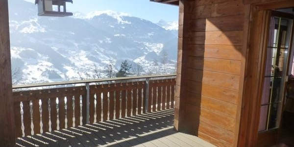 Terrasse und Winter-Panoramablick