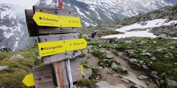 Der Alpenvereinsweg zum Gletscher trägt die Nummer 902.