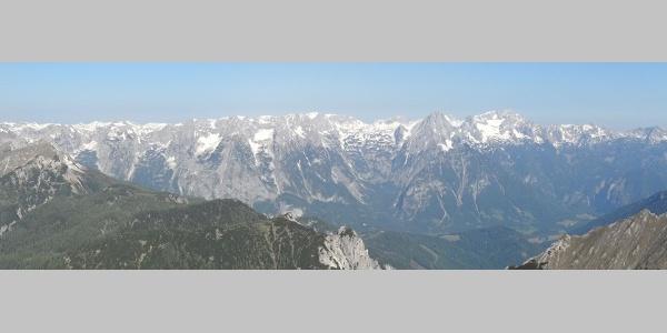 Panorama des Toten Gebirges vom Hochmölbing aus