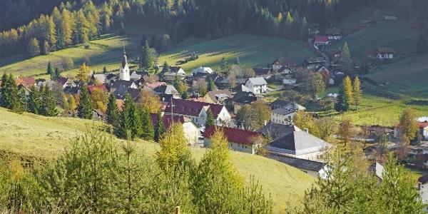 Blick auf Bad Bleiberg