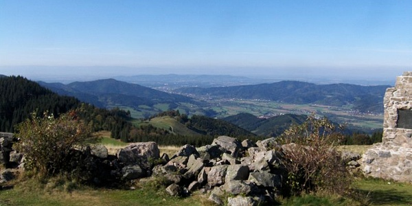 Blick vom Hinterwaldkopf ins Dreisamtal