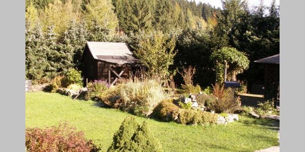 Garten zur Ferienwohnung