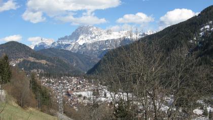 Falcade; Blick nach Osten auf die Civetta