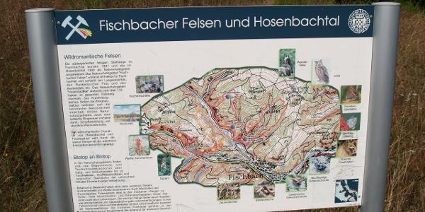 Informationstafel am Bergbaurundweg