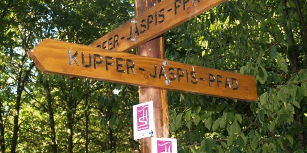 Kupfer-Jaspis-Pfad-Schild