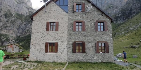 Nordansicht der Hütte