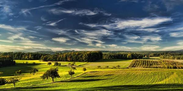 Wiesen- und Felderlandschaft um Emmersdorf