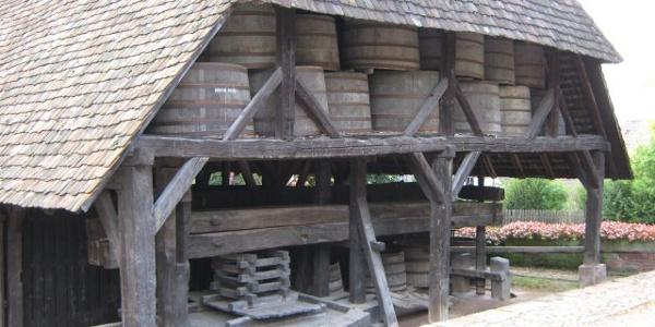 Alte Kelter in Ellmendingen, heute ist es ein Museum
