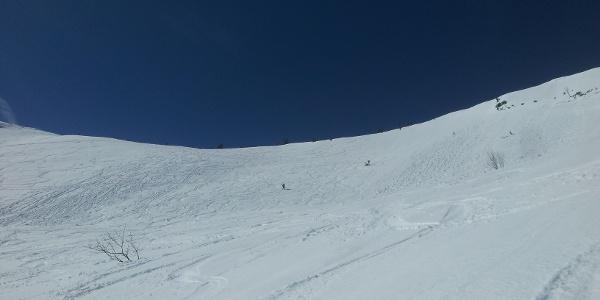 Das Steilstück unterhalb des Gipfels