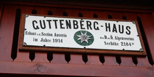 Hüttentafel Guttenberghaus